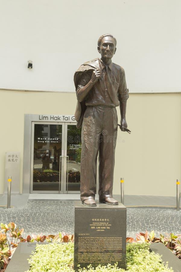 Основатель Lim Hak Tai академии искусства Nanyang в Сингапуре стоковое изображение