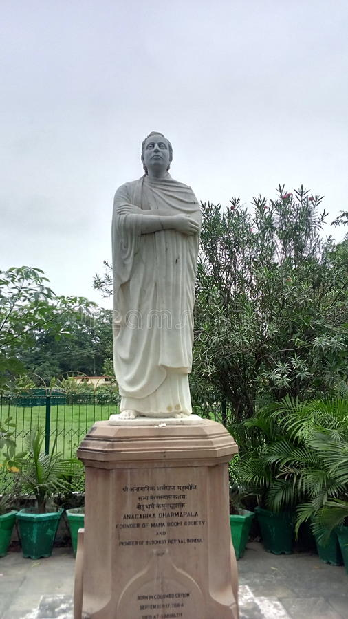 Основатель общества Mahabodhi стоковое изображение rf