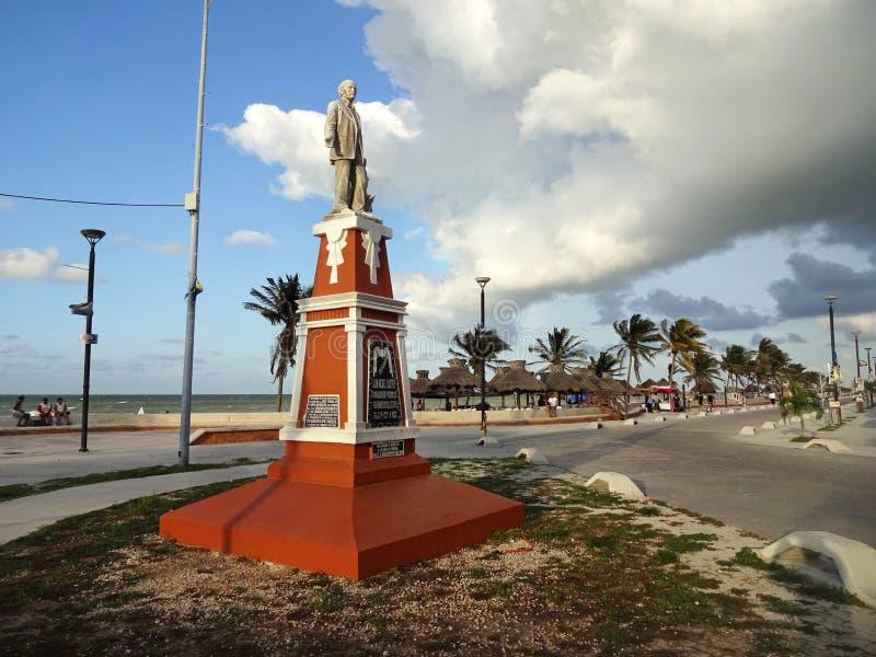 Основатель пляжа Progreso стоковые изображения