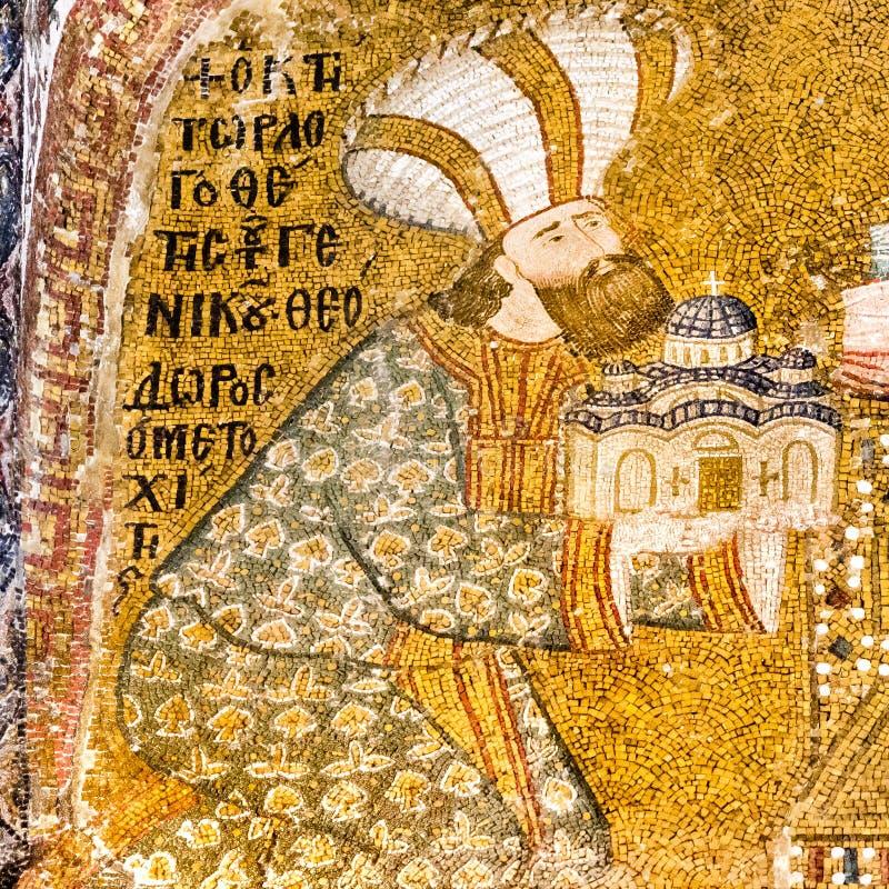 Основатель церков Chora представляя модель церков стоковая фотография rf