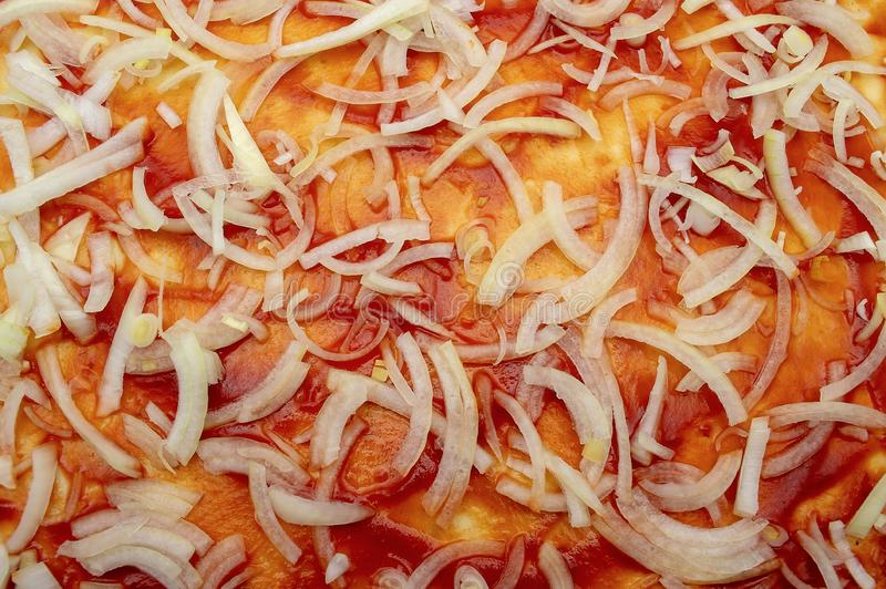 Основа для итальянца луков кетчуп пиццы сочного стоковые фотографии rf