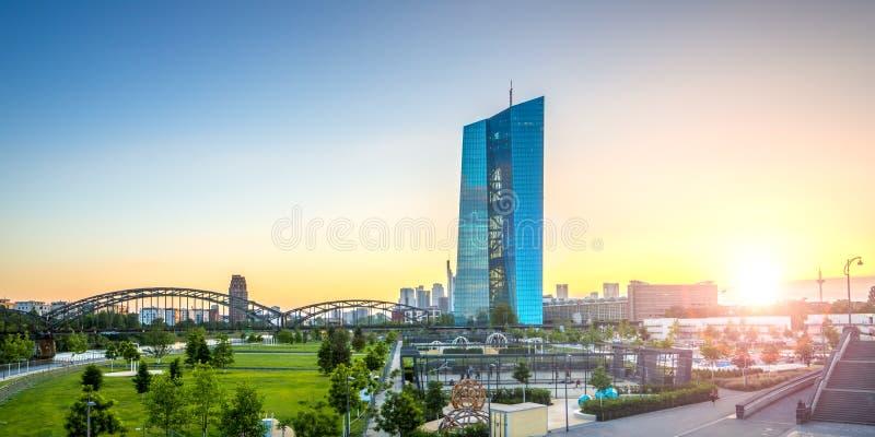 Основа Европейского Центрального Банка, Франкфурта стоковые изображения rf