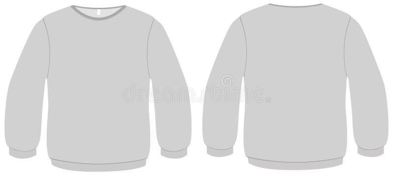 основной вектор шаблона свитера иллюстрации иллюстрация вектора