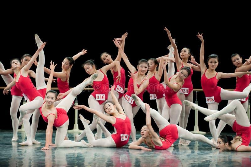 Основной курс подготовки танца стоковая фотография