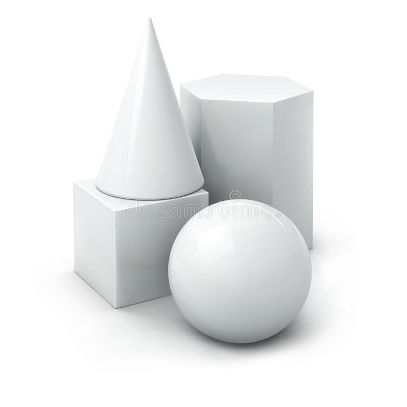 основные геометрические формы иллюстрация вектора