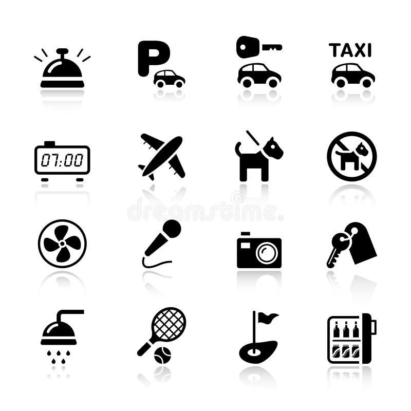 основные иконы гостиницы иллюстрация штока
