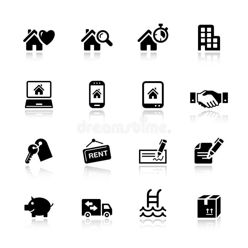 основные иконы имущества реальные бесплатная иллюстрация