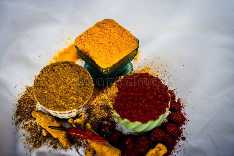 Основные специи индийской еды стоковые фотографии rf