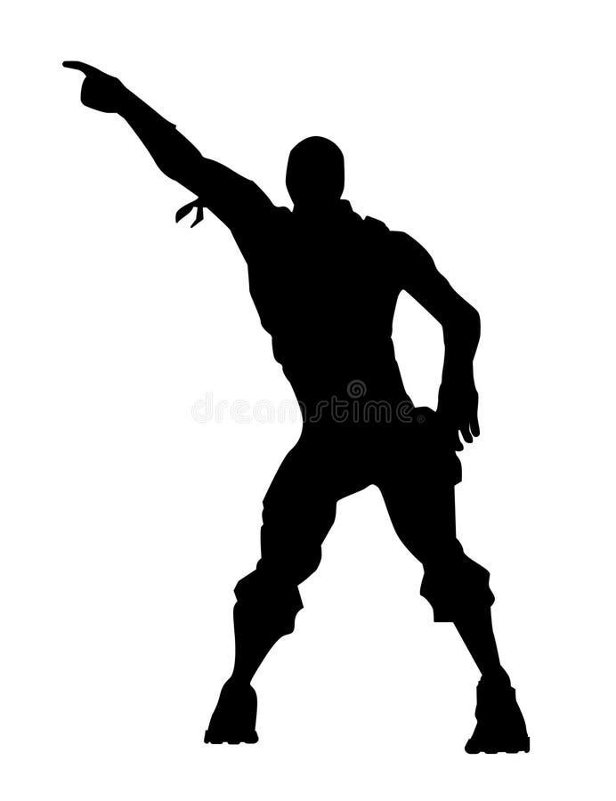 Fortnite concept. Dance icon stock illustration