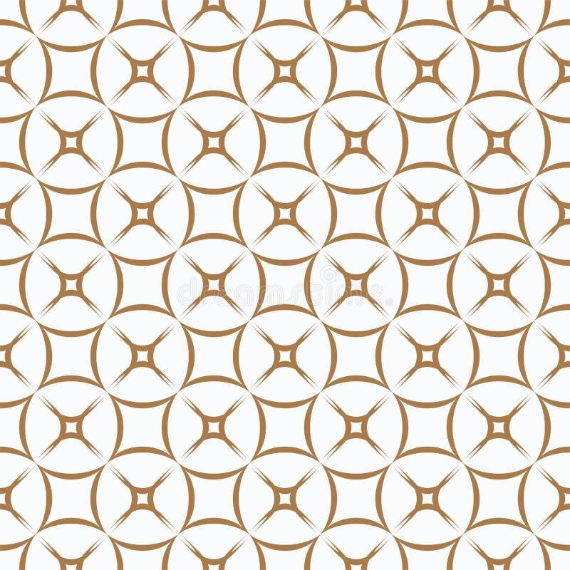 Golden pattern on white background. seamless pattern. Abstract. stock illustration