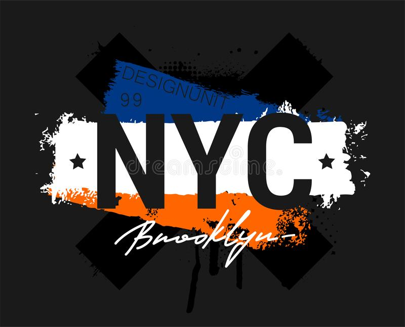 70ee47cd T-shirt - New York City and apparel abstract design vector illustration