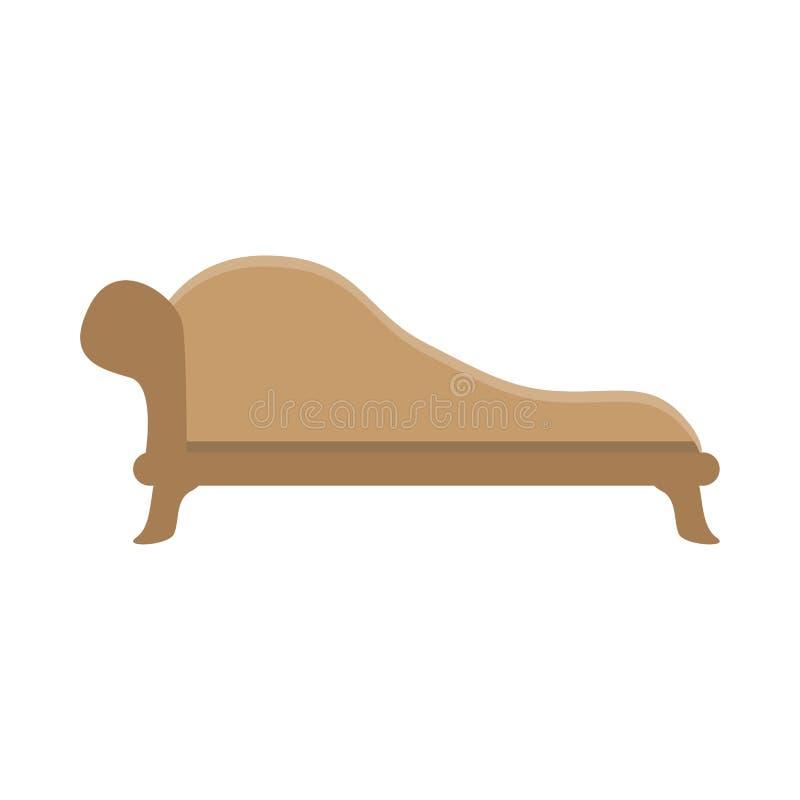 Sofa. vector illustration, flat icon. Front view. vector illustration