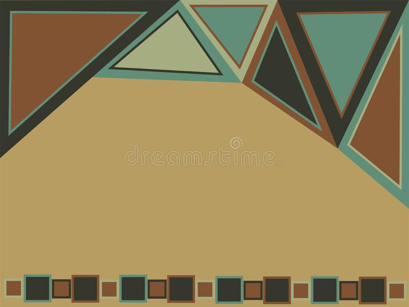 Abstract geometric background for design. Wallpaper with triangles and squares. royalty free stock photo