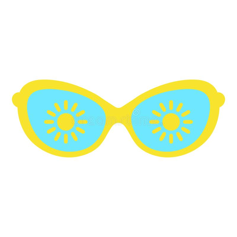 Women`s glasses, women`s accessory. Summer season, sun, vacation. royalty free illustration