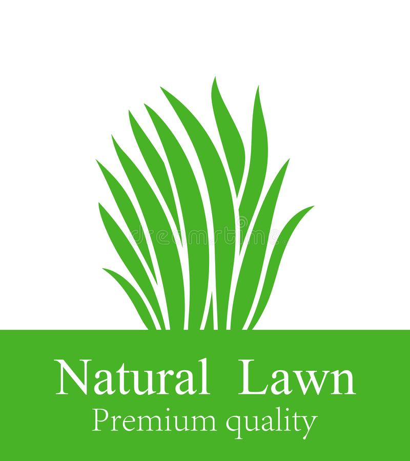 Lawn logo. Isolated lawn on white background. Grass. EPS 10. Vector illustration stock illustration