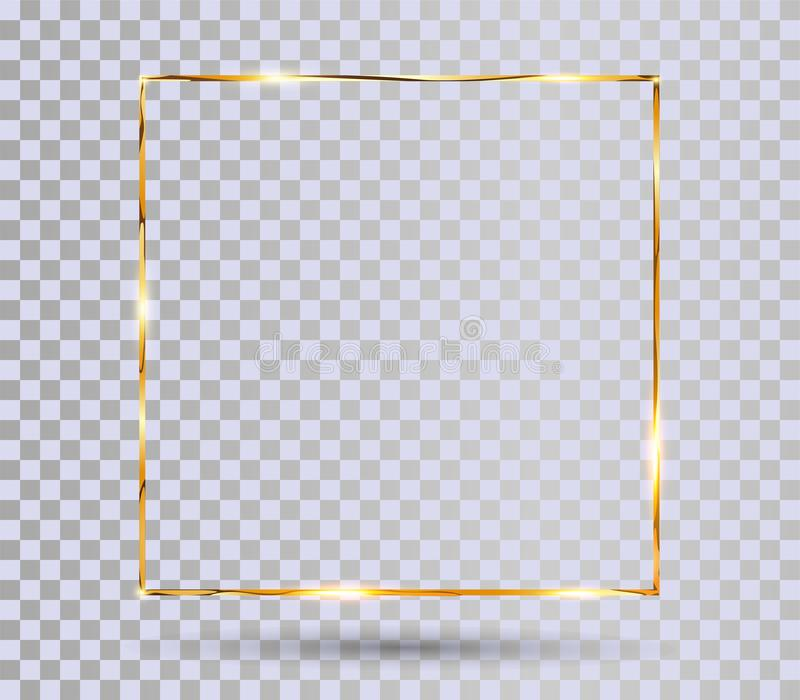 Gold shiny frame stock illustration