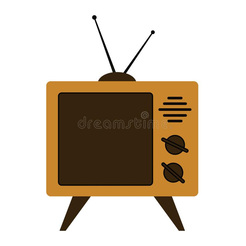 Retro tv set on a white background. Vector. Retro tv set on a white background. Vector illustration stock illustration
