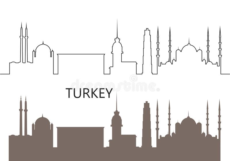 Turkey logo.  Isolated Turkish architecture on white background royalty free stock photography
