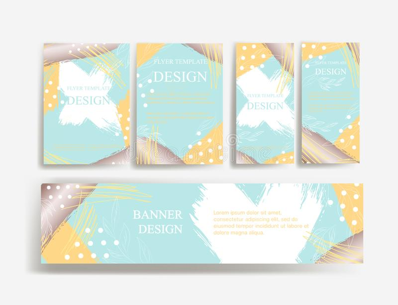 Design of flyers, banners and brochures. Abstract fun color pattern cartoon texture for doodle geometric background. stock illustration