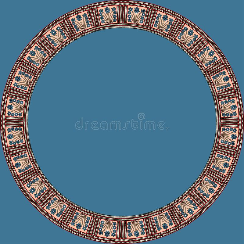 African traditional ornament. Round frame with floral ornament. royalty free stock photos