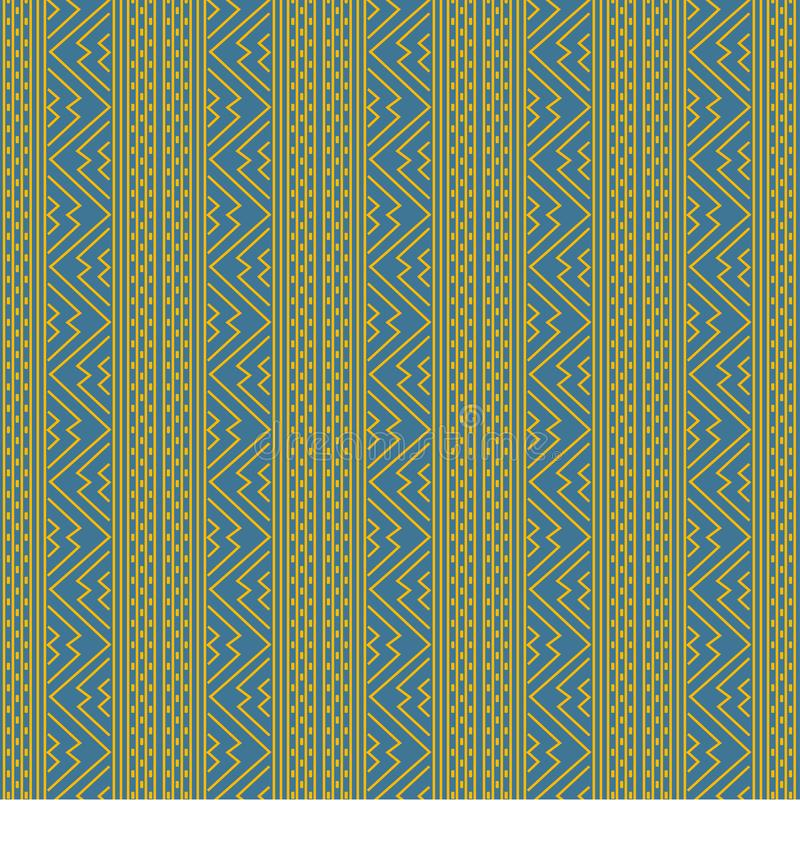 African traditional ornament. Seamless pattern with geometric ornament. stock image