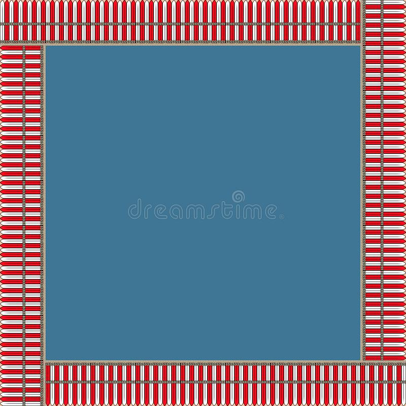 African traditional ornament. Square frame with floral ornament. royalty free stock photos
