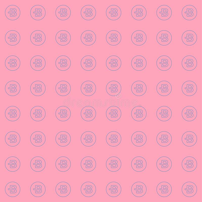 Background of cryptocurrency coin. Seamless pattern with Bytecoin. royalty free stock photo