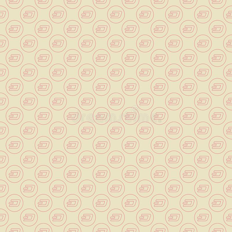 Background of cryptocurrency coin. Seamless pattern with Dash. stock photography