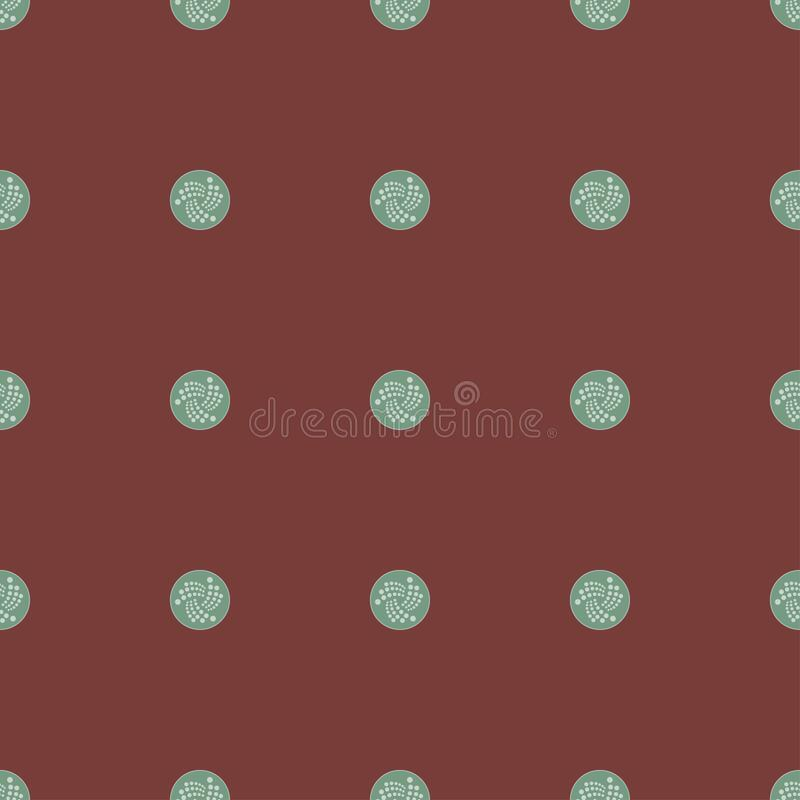 Background of cryptocurrency coin. Seamless pattern with IOTA. royalty free stock photos