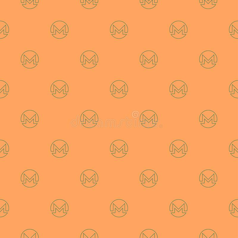 Background of cryptocurrency coin. Seamless pattern with Monero. royalty free stock image