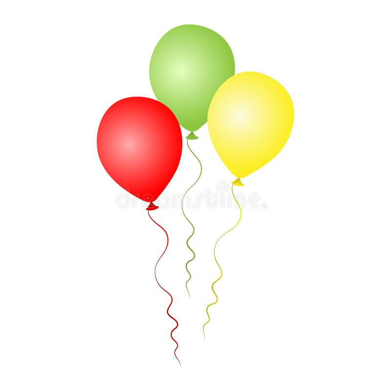 Bunch of helium balloons. Birthday baloons for party and celebrations. royalty free stock photography