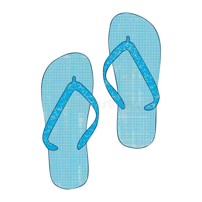 Colorful cartoon flip flops illustration. Element for summer design. stock photo