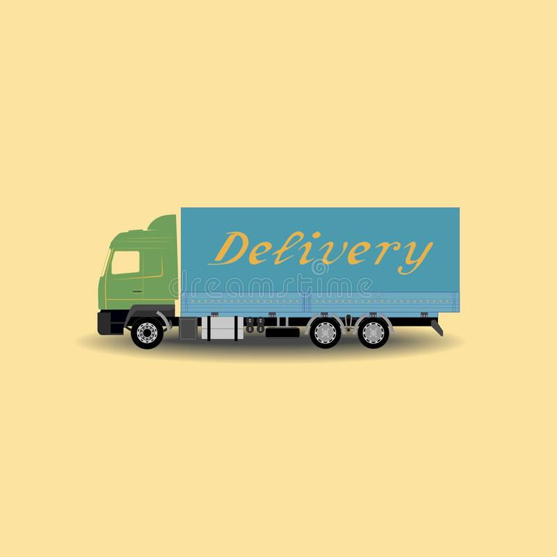 Delivery truck royalty free illustration