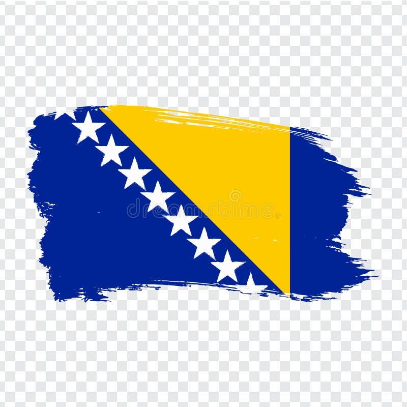 Flag Bosnia and Herzegovina from brush strokes.  Flag  Bosnia and Herzegovina on  transparent background for your web site design,. Logo, app, UI. Stock vector vector illustration