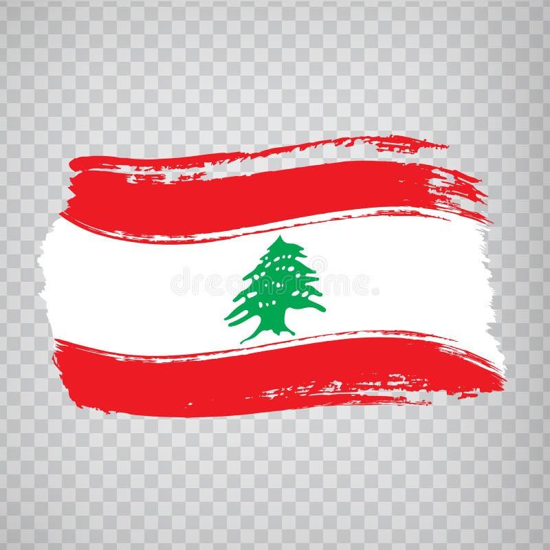 Flag Lebanon from brush strokes.  Flag  Lebanese Republic on  transparent background for your web site design, logo, app, UI. Stock vector. Vector illustration vector illustration