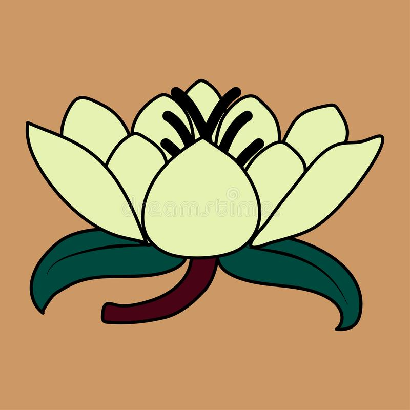 Lotus flower and leaves. stock photography