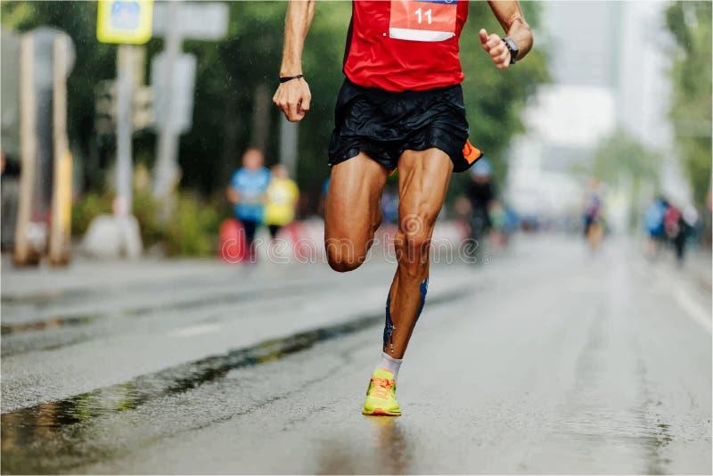 Man runner leader royalty free illustration