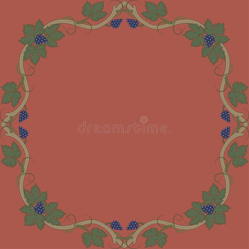 Medieval floral frame stock illustration