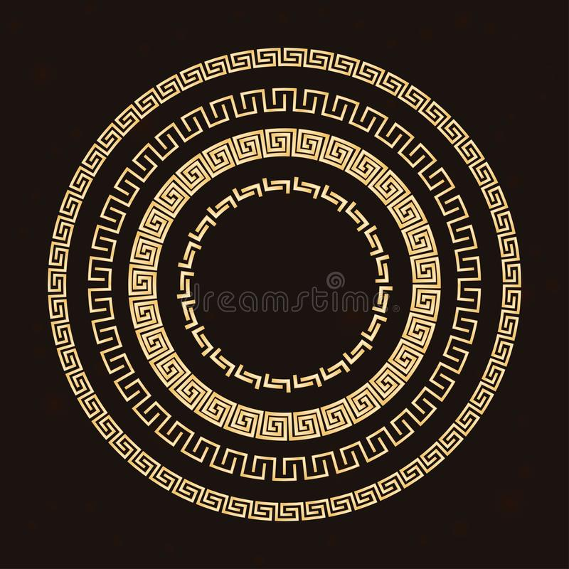 Traditional simple meander. royalty free stock images
