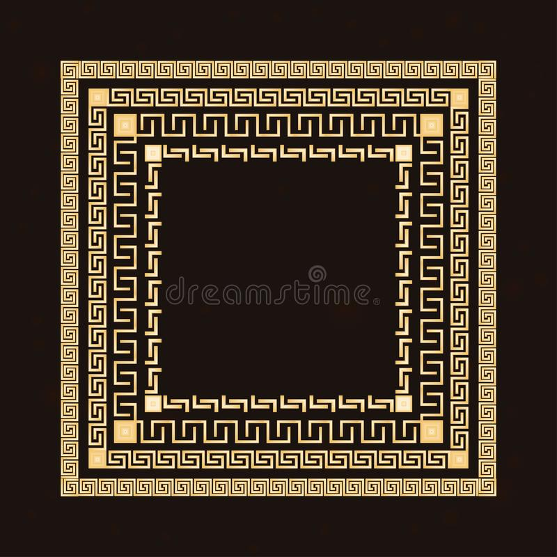 Traditional simple meander. royalty free stock photo