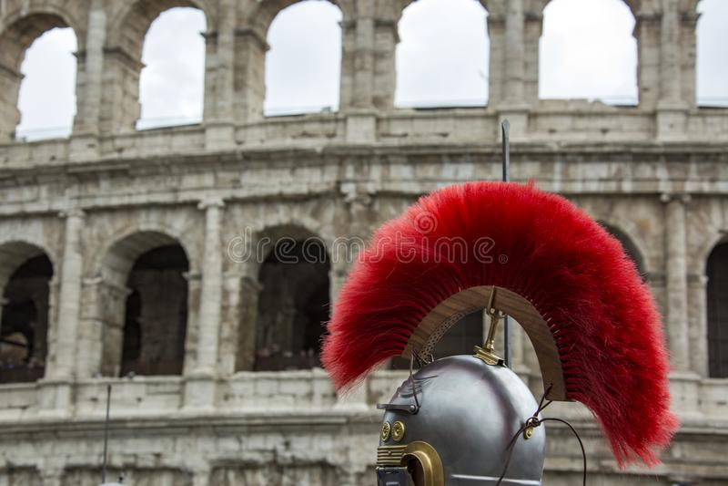 Основывать Рима: парад через улицы Рима стоковые изображения