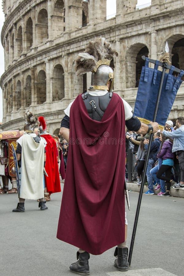 Основывать Рима: парад через улицы Рима стоковая фотография