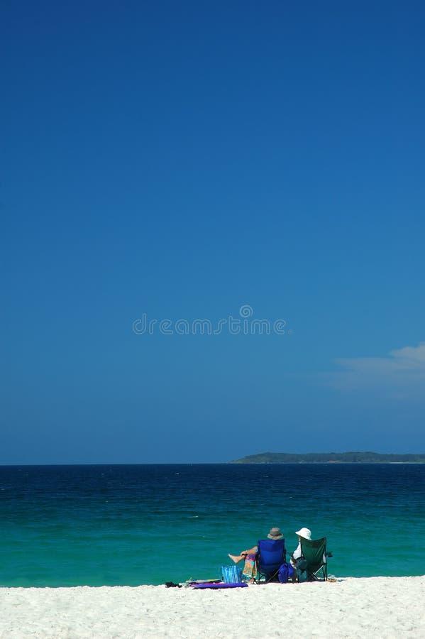 остальные пляжа стоковое фото rf