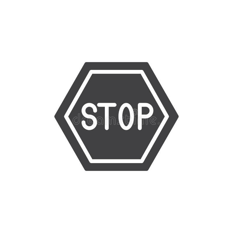Остановите вектор значка дороги бесплатная иллюстрация