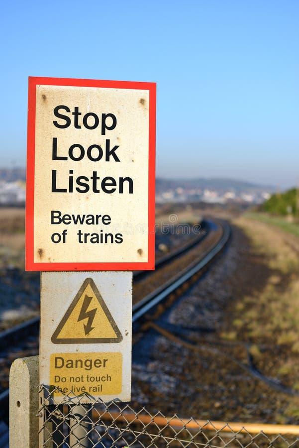 Остановите взгляд и послушайте стоковые изображения rf