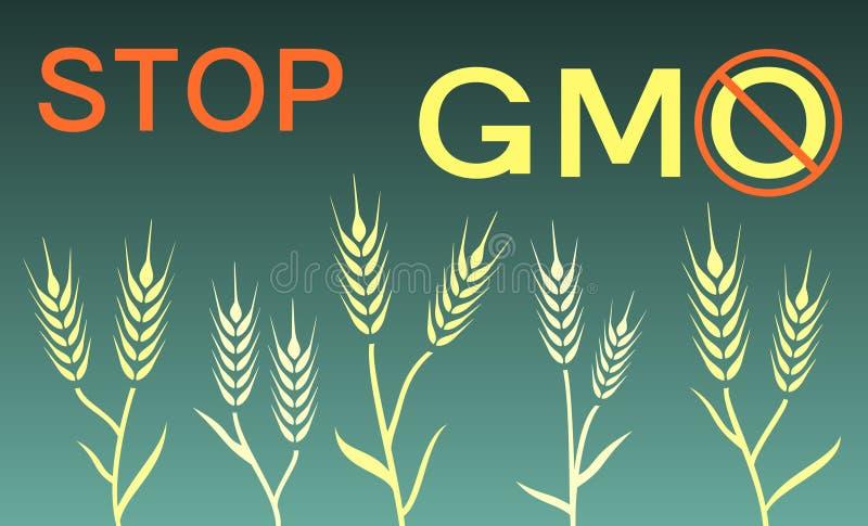 Остановите знамя gmo бесплатная иллюстрация