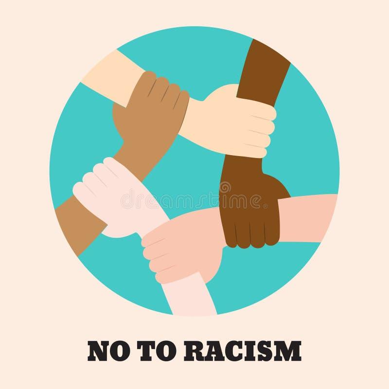 Остановите значок расизма иллюстрация вектора