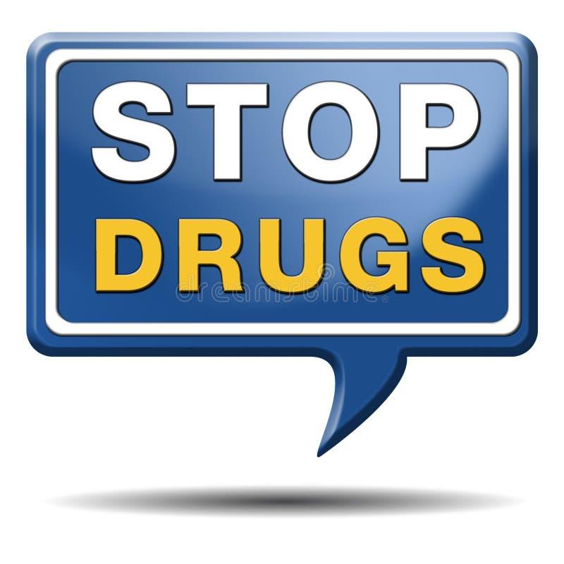 Остановите злоупотребление наркотиками бесплатная иллюстрация