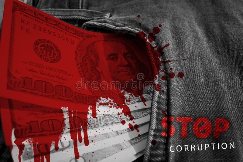 Остановите коррупцию Финансы стоковое фото