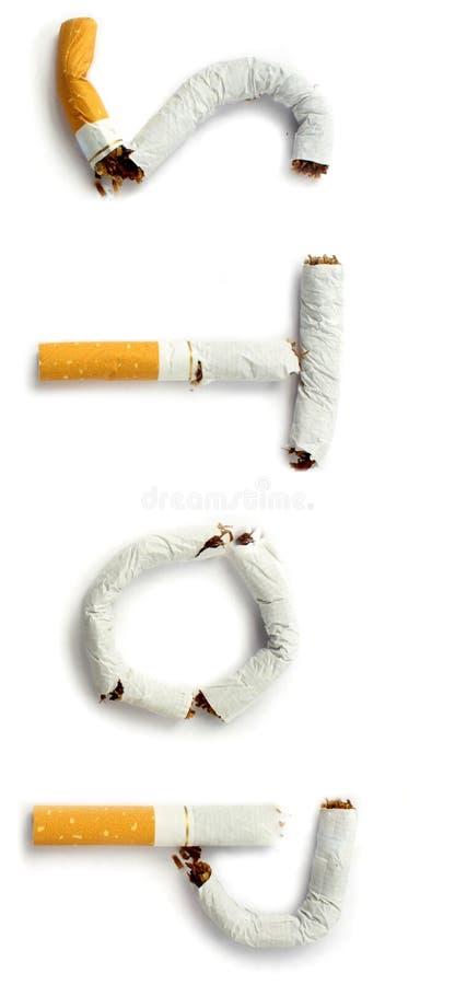 Остановите курить стоковое изображение
